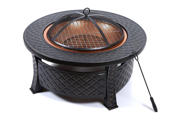 Dick Smith New 3 In 1 Outdoor Garden Fire Pit Bbq Firepit Brazier