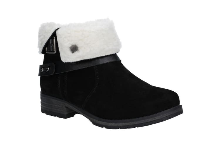 Fleet & Foster Womens/Ladies Leather Soda Ankle Boots (Black) (7 UK)