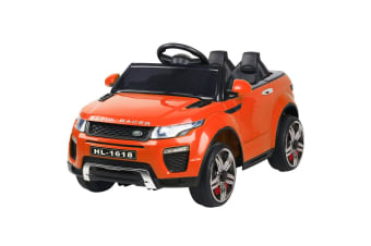 Kids Ride On Car 12V Electric Battery Remote Toy Childrens Cars Orange