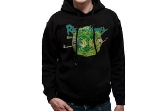 Rick And Morty Adults Unisex Black Portal Hooded Sweatshirt (Black)