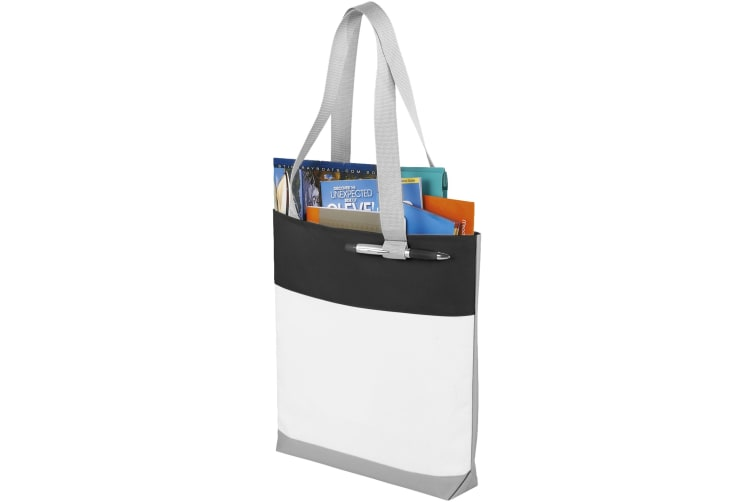 Bullet Bloomington Convention Tote (White/Solid Black) (41 x 7.6 x 34 cm)