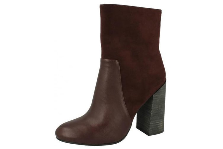 Anne Michelle Womens/Ladies Low Calf Boots (Burgundy) (UK 3)