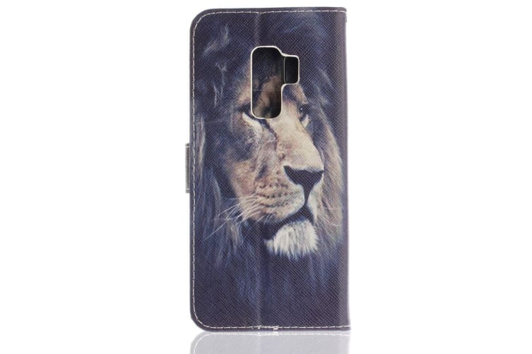 For Samsung Galaxy S9 PLUS Wallet Case  Lion Pattern Durable Leather Cover