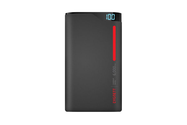 Cygnett ChargeUp 6000mAh Polymer Power Bank - Red (CY1769PBCHE)