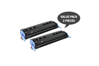 CART-307 Q6000A #124A Black Premium Generic Toner (Two Pack)