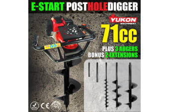 71cc Post Hole Digger with three Augers
