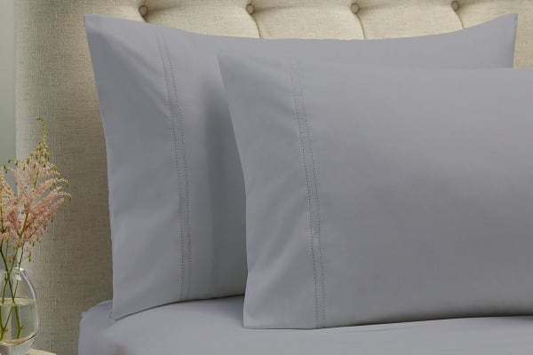 Style & Co 1000TC 100% Egyptian Cotton Essex Bed Sheet Set (Queen, Silver)