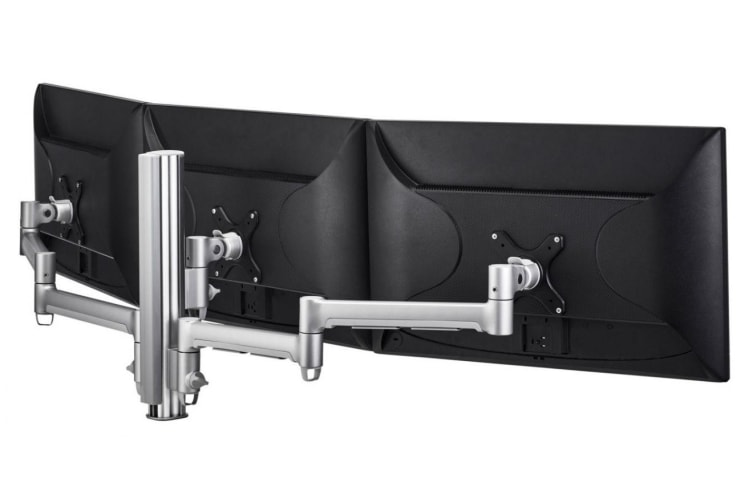 ATDEC AWM Triple monitor arm solution - 710mm & 130mm articulating arms -