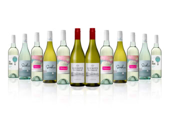 Australian Mixed White Wine Carton Featuring Rawsons Chardonnay (12 Bottles)