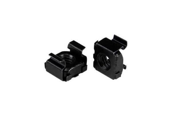 STARTECH M6 Cage Nuts - 50 Pack - M6 Nuts - 50 Pack Black - M6 Mounting Cage Nuts for Server Rack & Cabinet