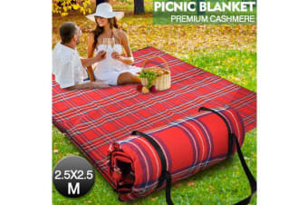 2.5X2.5M Extra Large Picnic Blanket Cashmere Waterproof