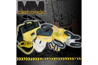 MEAN MOTHER 8 PIECE 4x4 4WD RECOVERY KIT WINCH SNATCH STRAP SHACKLES RESCUE NEW