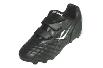 Mirak Forward Moulded / Boys Boots / Football/Rugby Boots (Black/Silver)