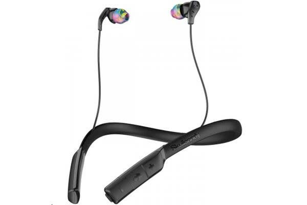 SkullCandy Method Wireless In-Ear Headphones - BLACK/SWIRL/GRAY - with in-line mic and controls