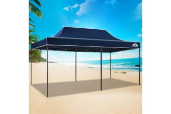 Pop Up Gazebo 3x6 Outdoor Tent Folding Wedding Marquee Gazebos Navy