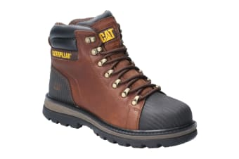 Caterpillar Mens Foxfield Lace Up Safety Boot (Oak)
