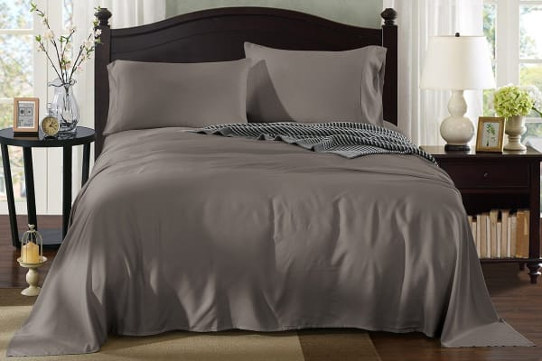 Royal Comfort 100% Natural Bamboo Bed Sheet Set (Queen, Charcoal)