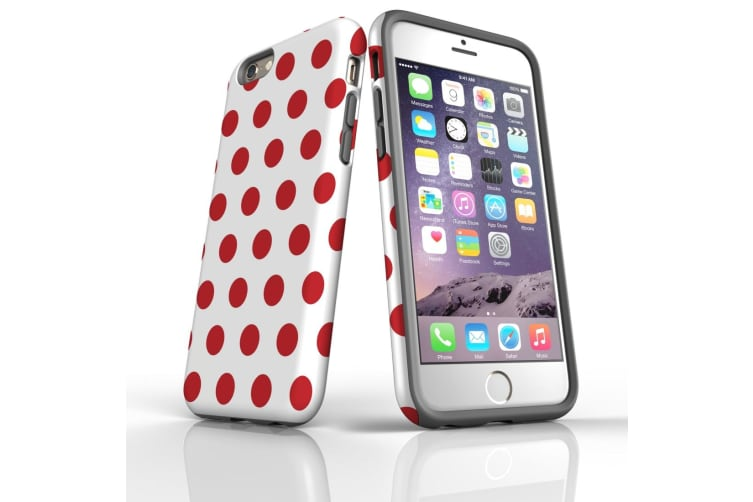 For iPhone 6 & 6S Protective Case Unique Phone Cover  Red Polka Dots