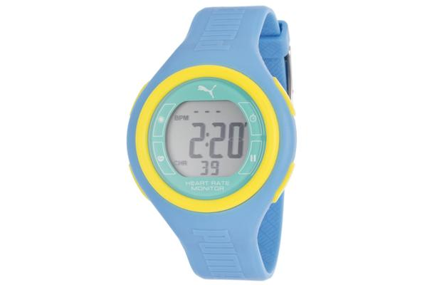 Puma Pulse Heart Rate Monitor Multi-Function Digital Light Blue Rubber (PUMA-PU910541013)