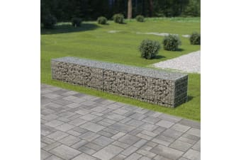 vidaXL Gabion Wall with Covers Galvanised Steel 300x50x50 cm