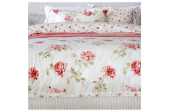 Rosie Cream Quilt Cover Set Double by Essentially Home Living