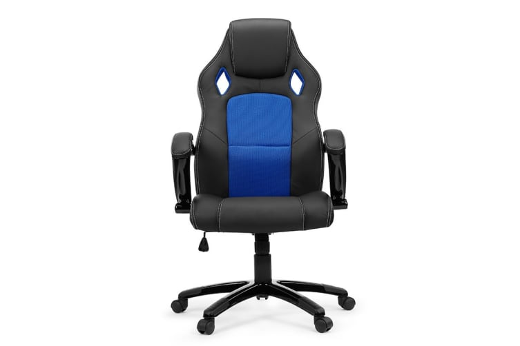 Ergolux RX8 Deluxe Gaming Office Chair (Blue, Racing Series)