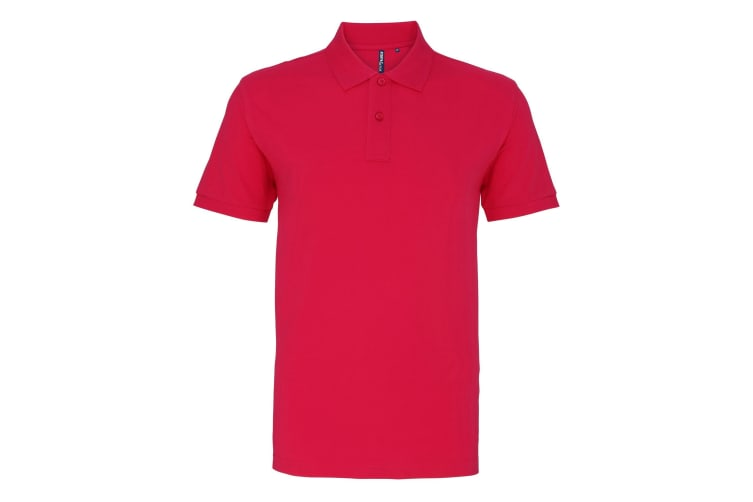 Asquith & Fox Mens Plain Short Sleeve Polo Shirt (Hot Pink) (S)