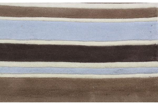 Taupe Coloured Stripes Children's Rug 280X190cm