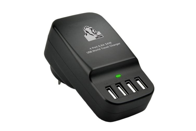 mbeat Gorilla Power 4-Port USB/Adaptor World Travel Wall Charger/Charge 6.8A/34W