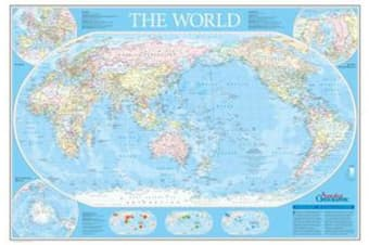 World Map Australia Centred Fold Out