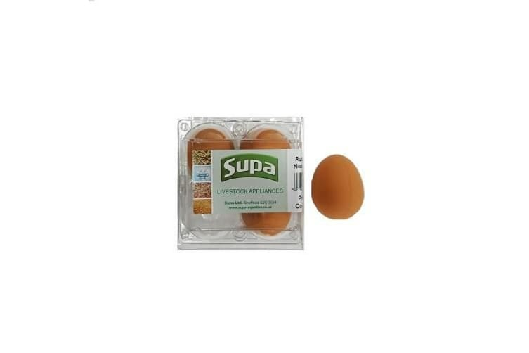 Supa Rubber Hen Nest Eggs (Pack Of 4) (Brown) (One Size)