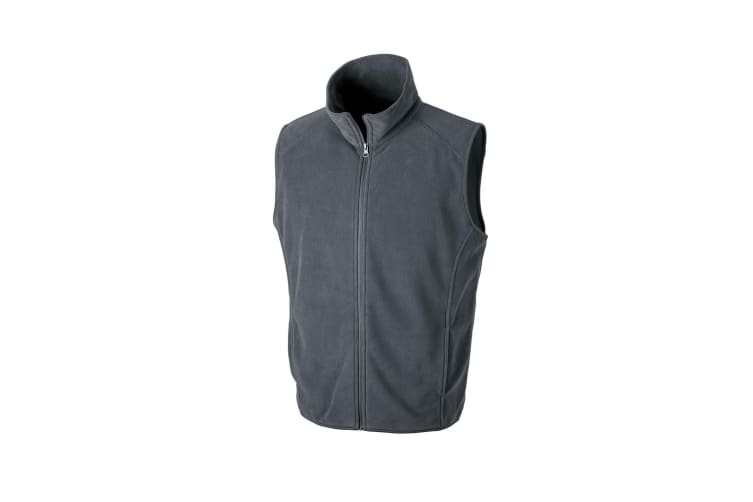 Result Core Mens Micro Fleece Gilet (Charcoal) (2XL)