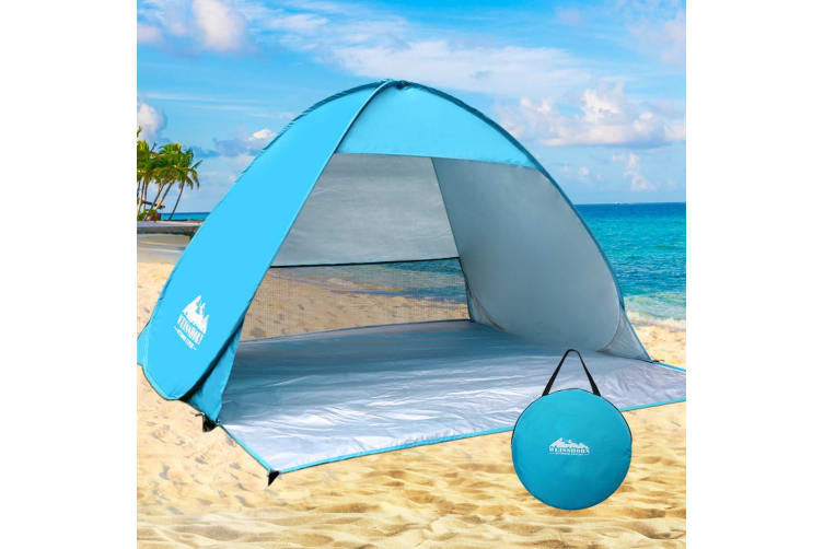 Pop Up Camping Tent Beach Hiking Sun Shade Shelter Fishing 4 Person