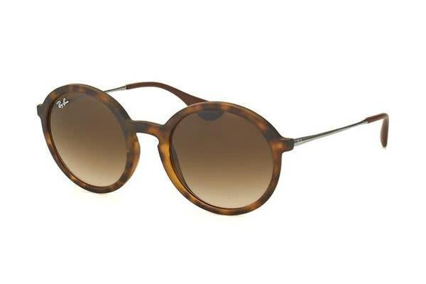 Ray-Ban RB4222 50mm - Havana Rubber Ruthenium (Brown Shaded lens) Mens Sunglasses