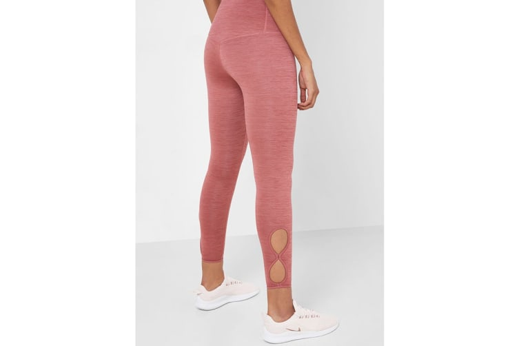 Nike Women's Yoga 7/8 Tights (Pink, Size L)