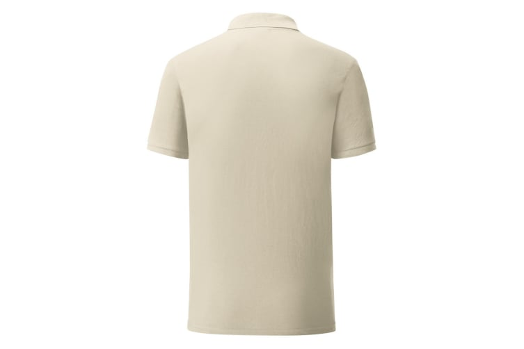 Fruit Of The Loom Mens Iconic Pique Polo Shirt (Natural) (L)