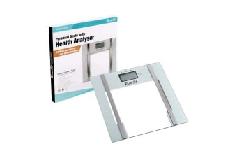 Electronic Digital Body Fat & Hydration Bathroom Glass Scale (White)