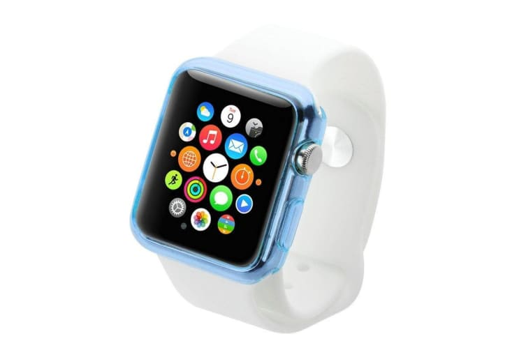 Blue For Apple Watch 1 2 3 4 (44mm 42mm) Slim TPU Protective Case