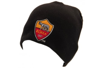AS Roma Champions League Knitted Hat (Black) (One Size)