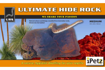 URS Reptile Medium Ultimate Hide Rock Decoration for Snakes, Lizards 33x20x16cm
