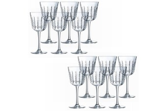 12PK Cristal D'Arques Rendez-Vous 250ml Red White Wine Glasses Bar Tableware