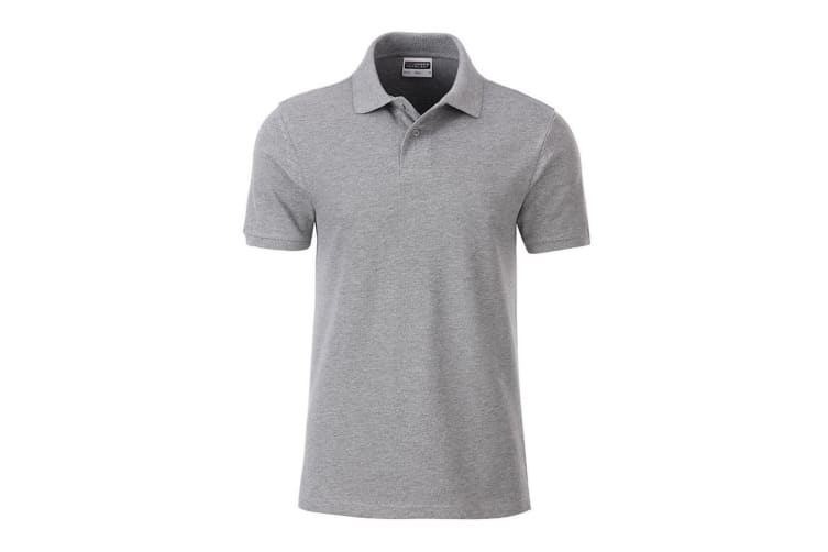 James and Nicholson Mens Basic Polo (Grey Heather) (L)
