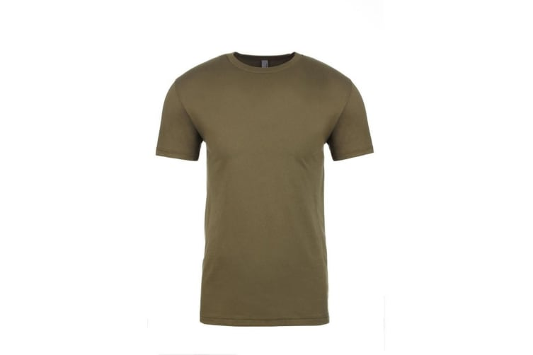Next Level Adults Unisex Crew Neck T-Shirt (Military Green) (XXL)