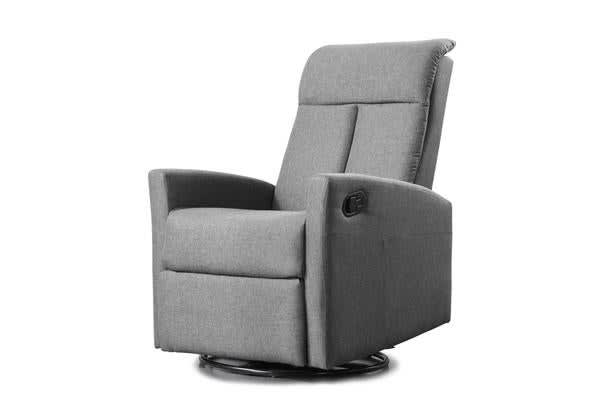 Fabric Padded 360 Degree Swivel Recliner Chair