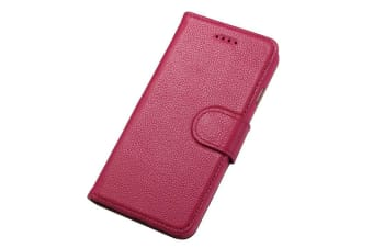 For iPhone 6S 6 Wallet Case Fashion Stylish Cowhide Genuine Leather Cover Pink