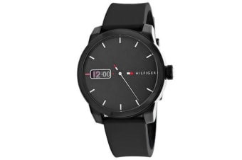Tommy Hilfiger Men's Classic (Black Dial, Silicone Strap)