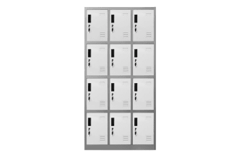 12 Doors Locker Cabinet Steel Storage Cupboard for Home Office School Gym