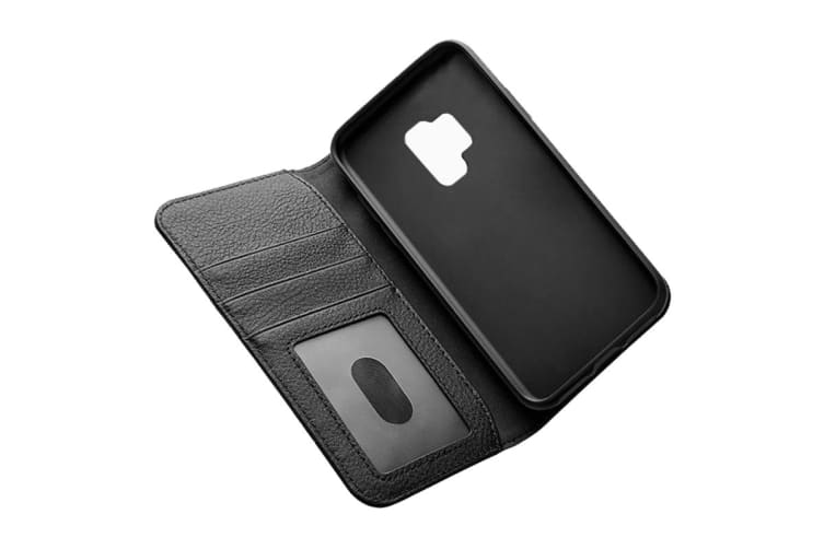 Cygnett CitiWallet Leather Case for Samsung Galaxy S9 - Black (CY2418WALCI)