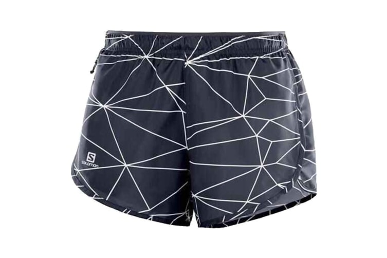 Salomon Agile Shorts Women's (Graphite/White, Size Medium)