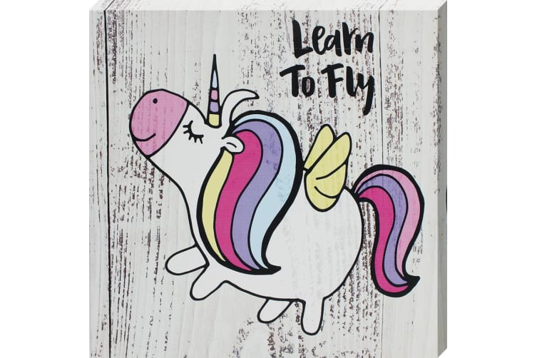 Grindstore Learn To Fly Canvas Print (Multicoloured) (One Size)